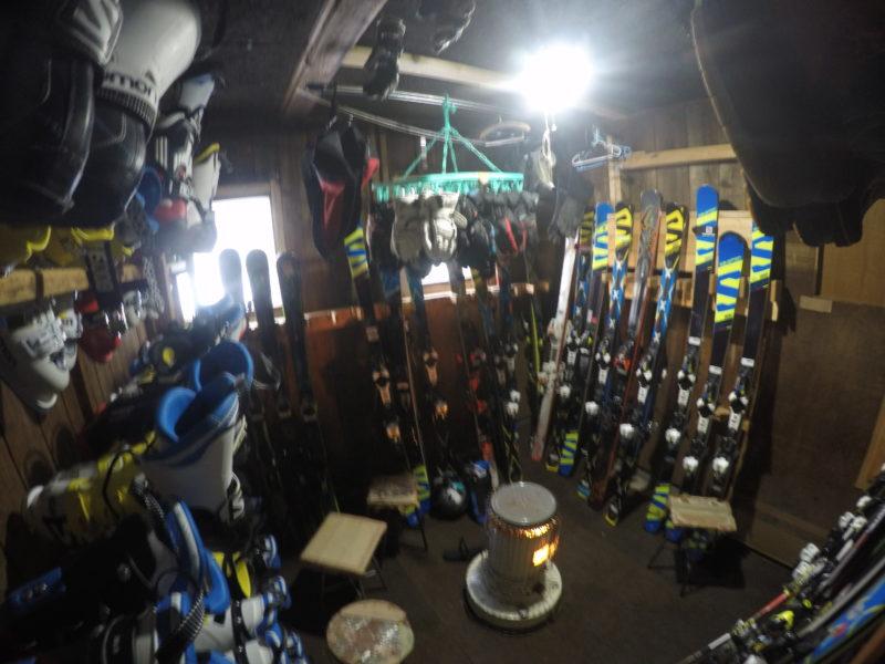 スキーの乾燥室