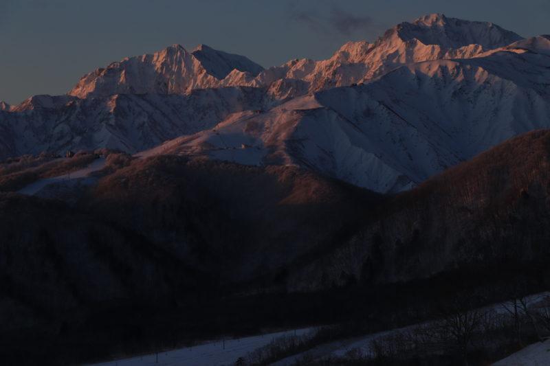 冬の後立山連峰