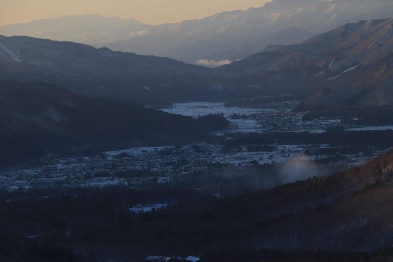 冬の白馬村