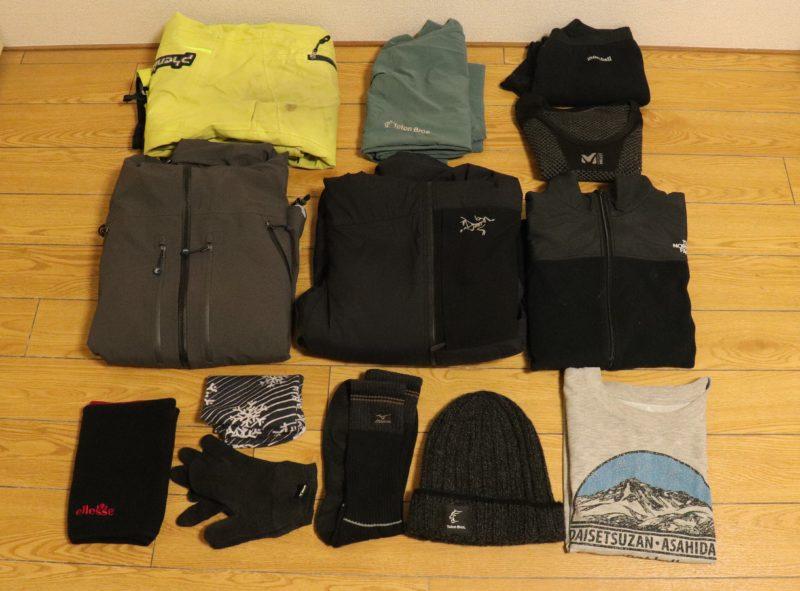 雪山テント泊の服装