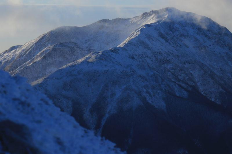厳冬期の悪沢岳
