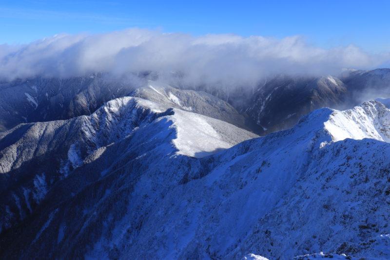 塩見岳からの景色