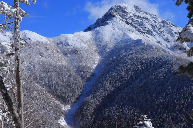 厳冬期の塩見岳