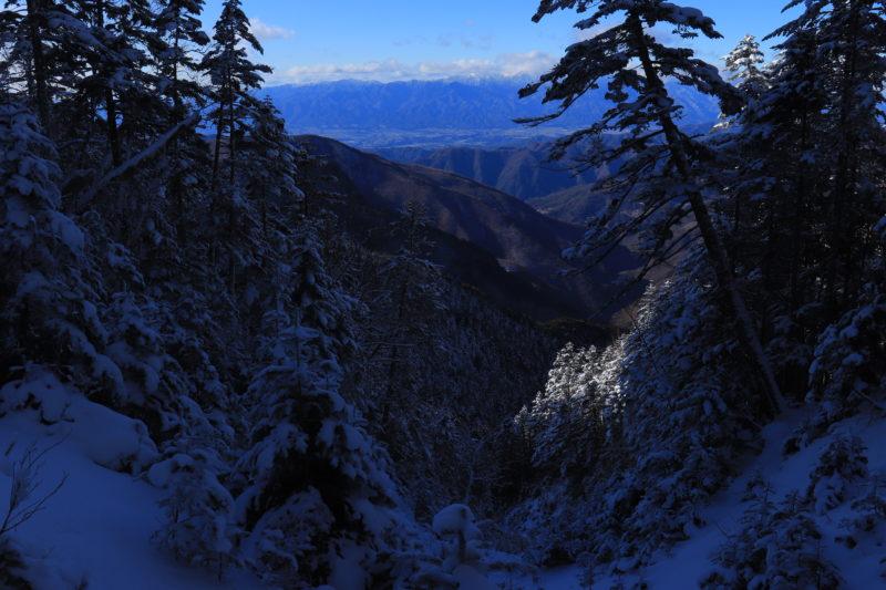 三伏峠から見た中央アルプス