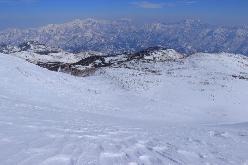 白馬乗鞍岳の大斜面